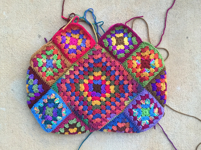 The other side of the future granny square bag