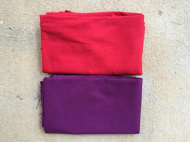 fabric to line a crochet bag