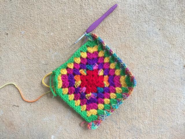 multicolor granny square