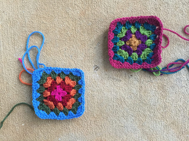 two granny squares