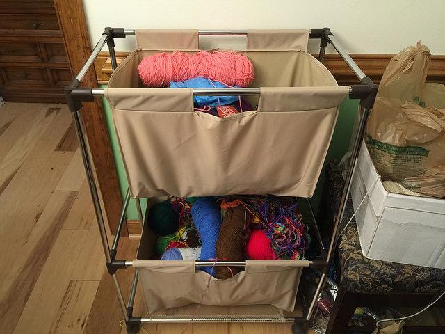 crochetbug, crochet basket, crochet bag, yarn stash,