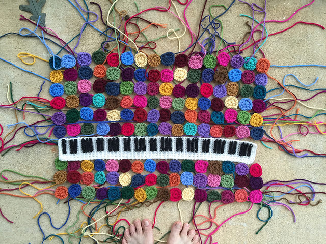 crochet keyboard crochet squares granny squares