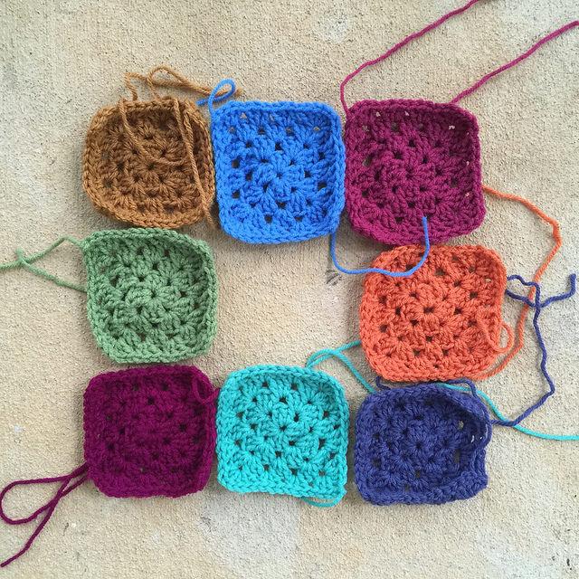 crochet squares granny squares