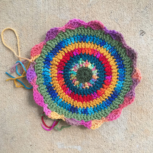 crochet circle crochet mandala