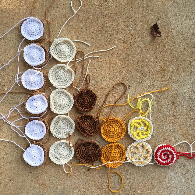 crochet cookie bar graph crochet circle