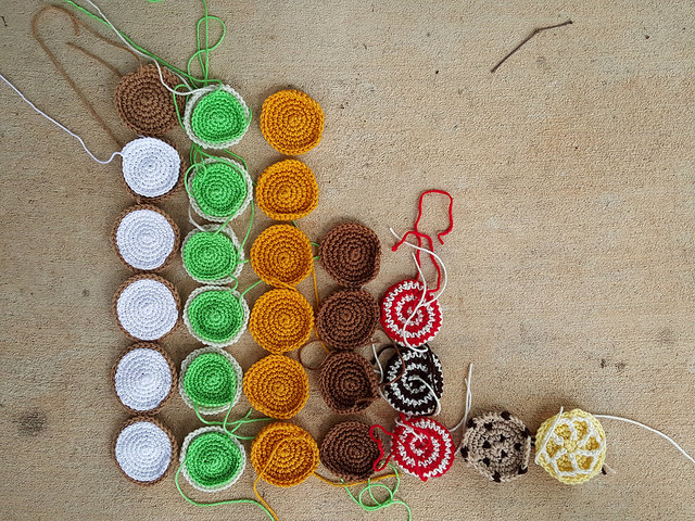 crochet cookie bar graph