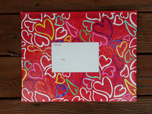 decorated decorative mailing envelope