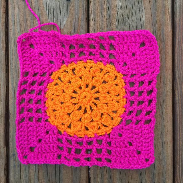 crochet circle crochet square