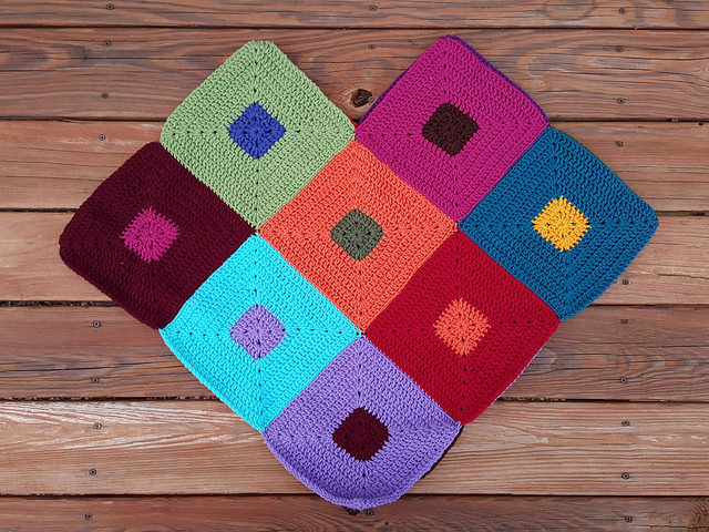 color study crochet poncho