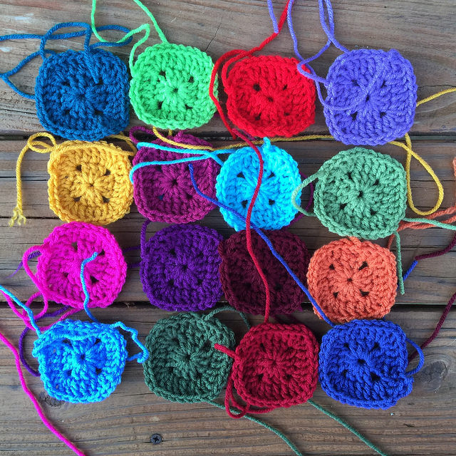 crochet squares for a crochet poncho