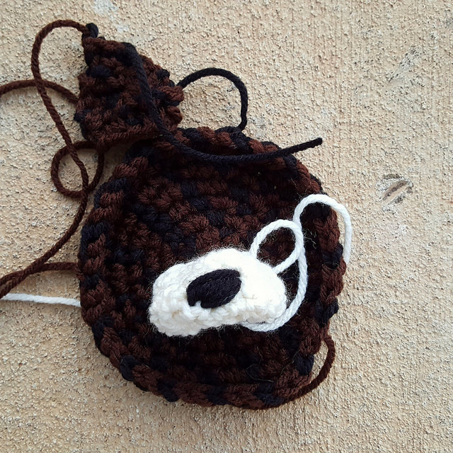 crochet dog face