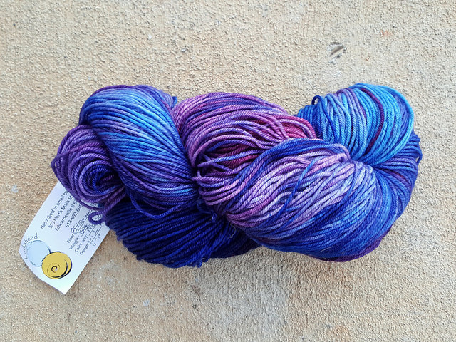 fingering weight hand-dyed yarn
