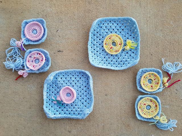 crochet donut crochet squares