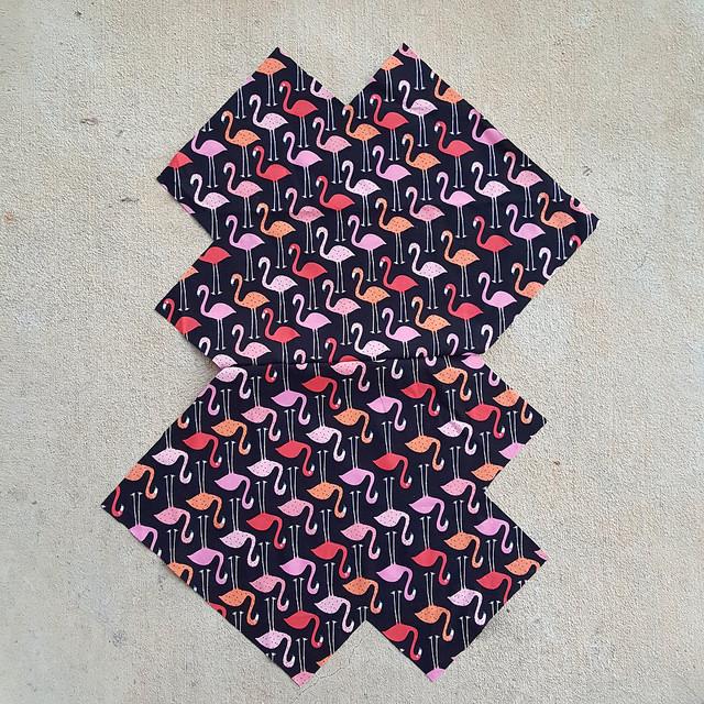 flamingo fabric lining