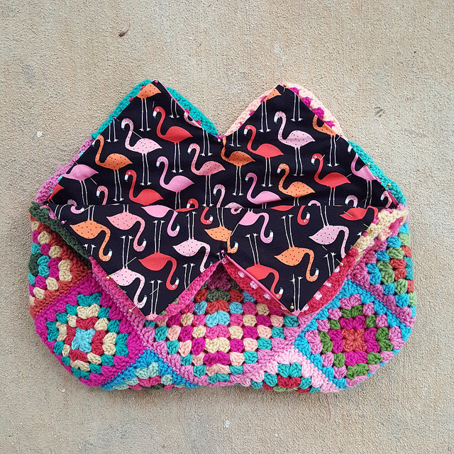 crochet bag fabric lining