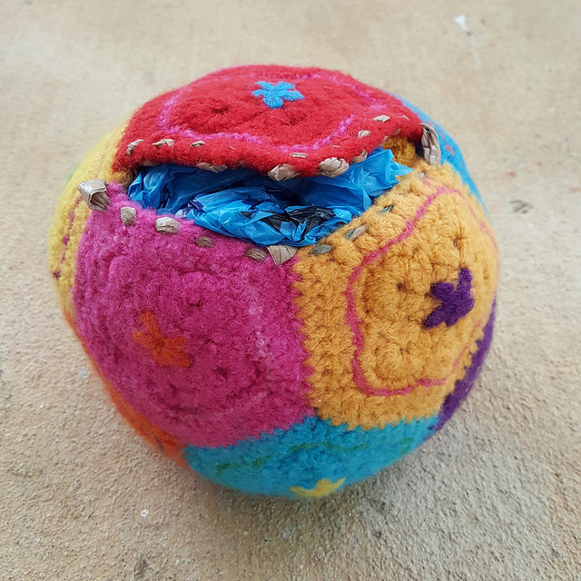 felted crochet dodecahedron