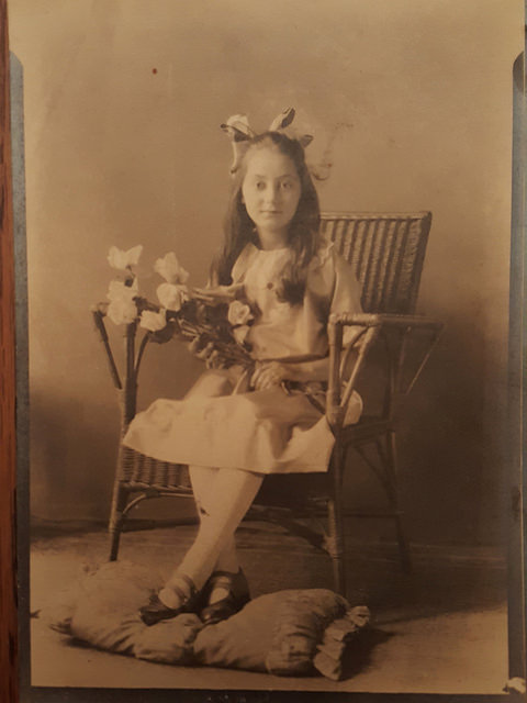 Flora Ruzich as a girl