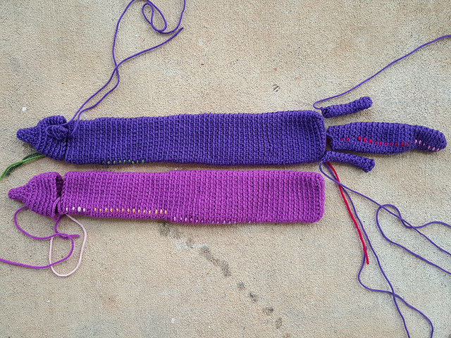 crochet minks for a crochet mink stole