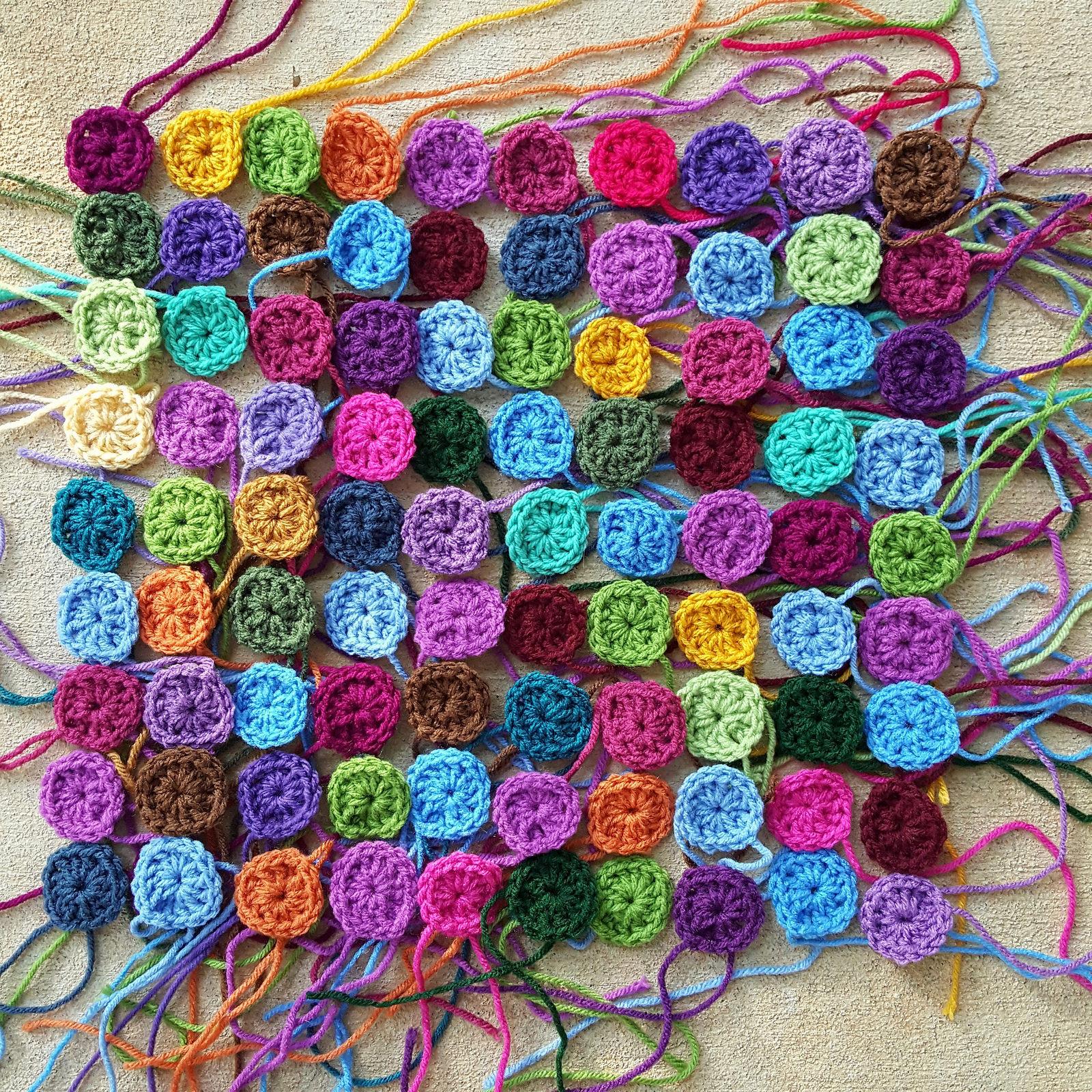 one-round granny squares