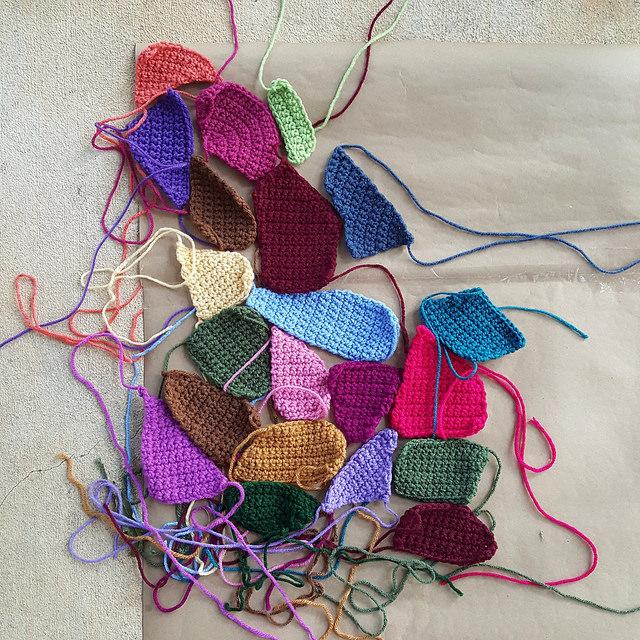 crochet quilt crazy pieces
