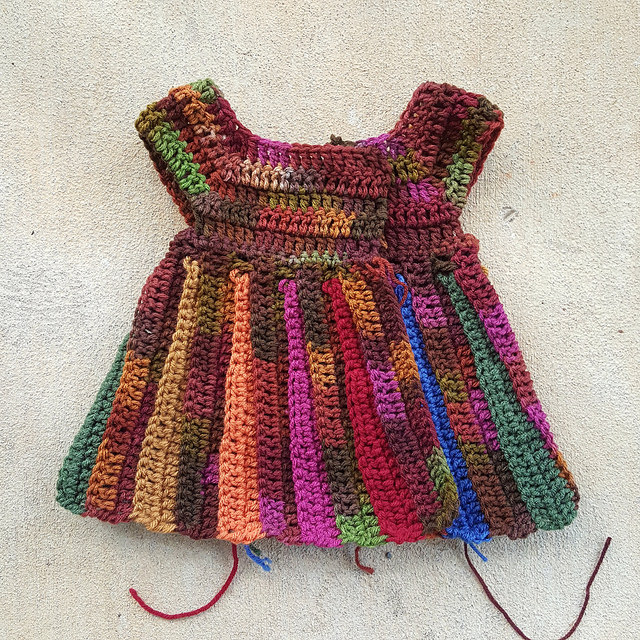 crochet baby sweater with the yoke added