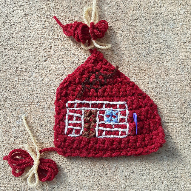 crochet brick house