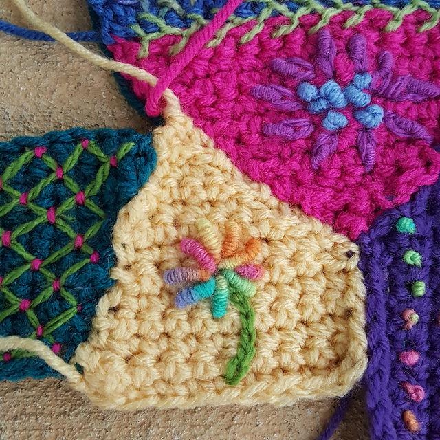 bullion stitches on embroidery