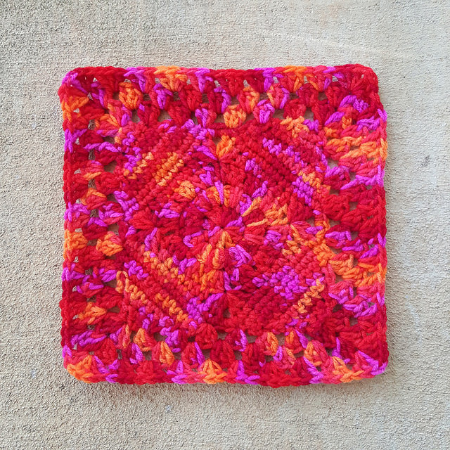 sangria crochet granny square