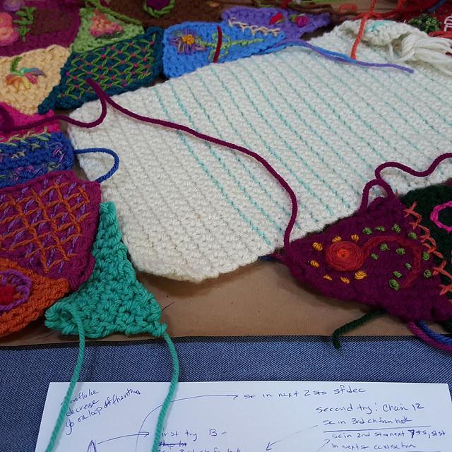 mint green crochet piece