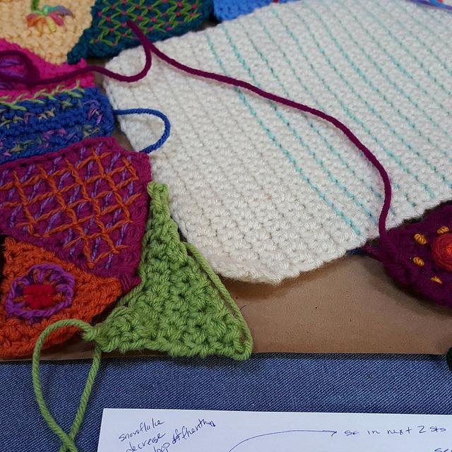 guava green crochet piece