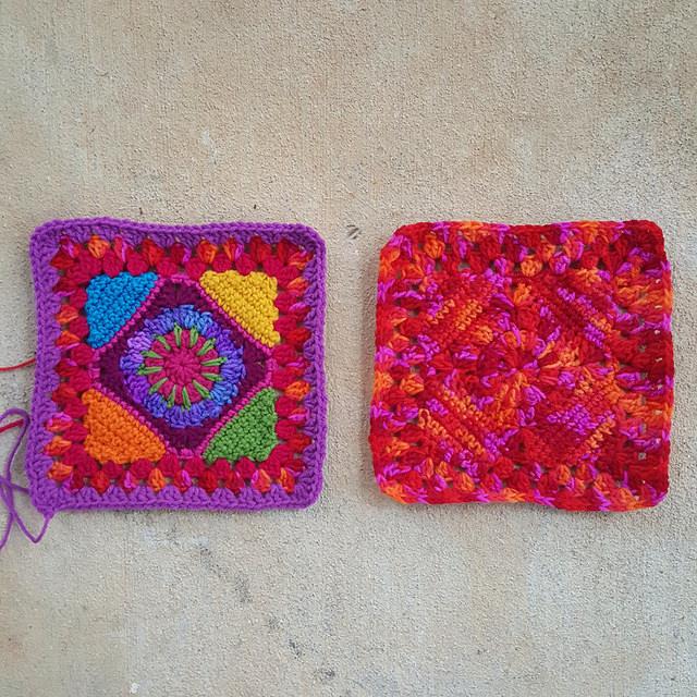 psychedelic crochet granny square crochet square