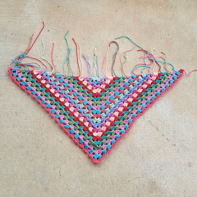 It's almost poncho time for this granny inspired poncho in need of finishing