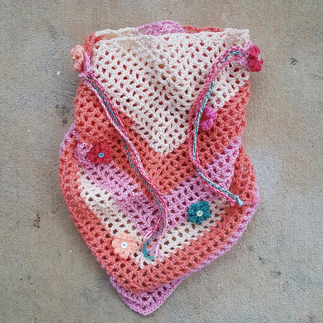 The crochet road trip scarf ready to wear