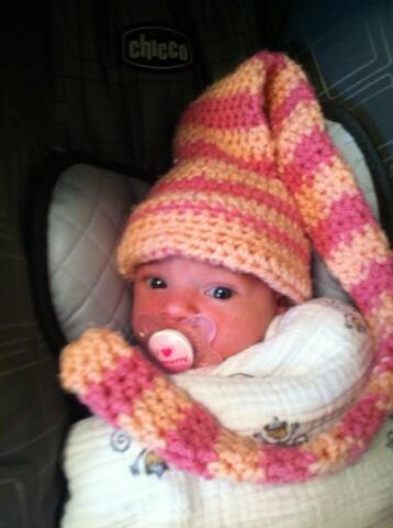 Bundles of joy in a munchkin crochet hat
