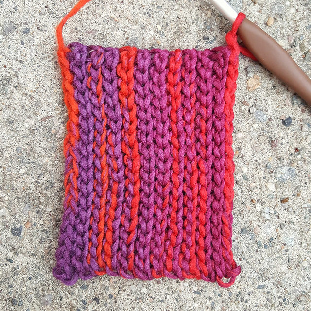 crochet ear warmer stitch detail