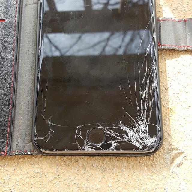 iPhone screen in need of repair