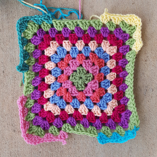 ninth round for a granny square
