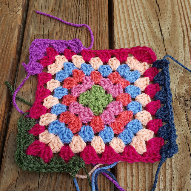 crocheting a new color