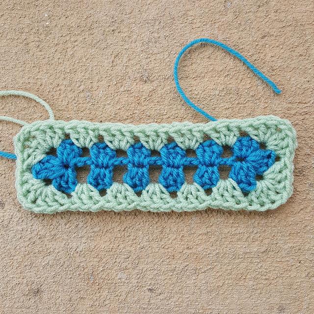 granny crochet rectangle