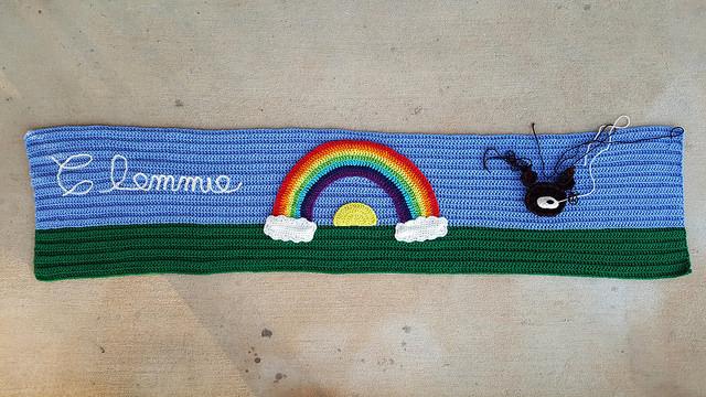 rainbow bridge comfort crochet shawl