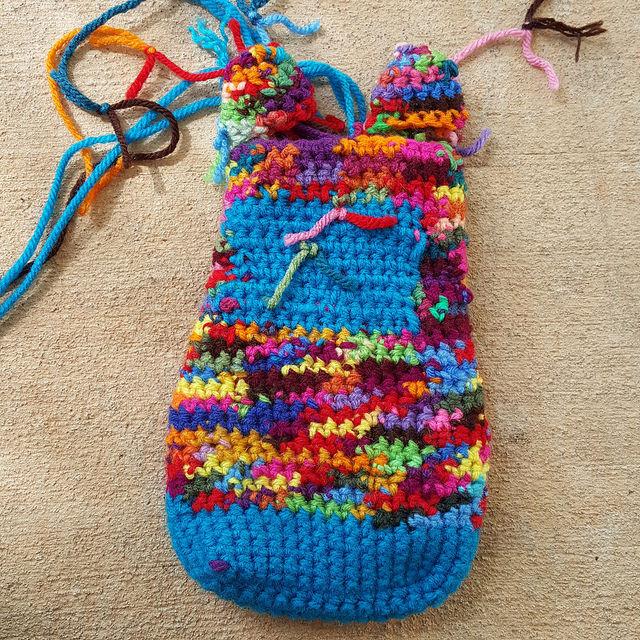 inside out scrap crochet cat