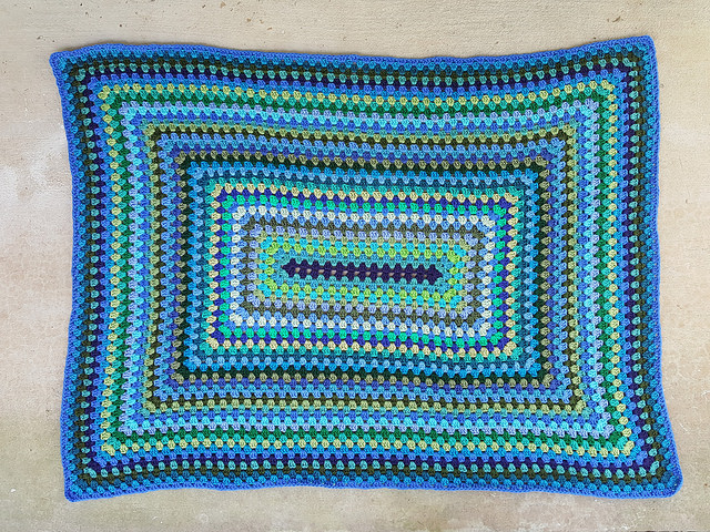granny rectangle blanket