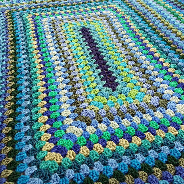 crochet granny rectangle