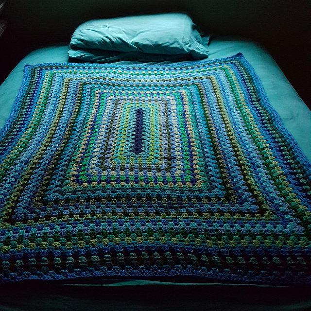 granny rectangle blanket