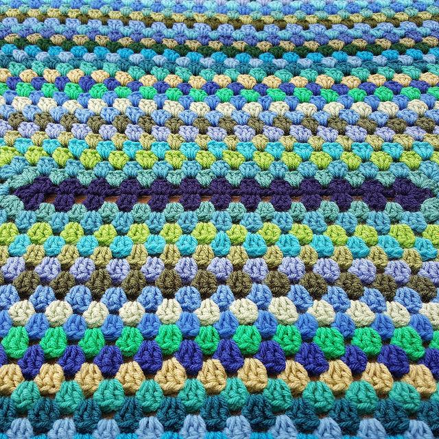crochet granny rectangle center