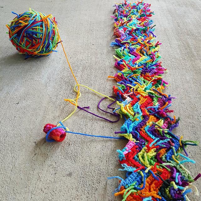 crochetbug, scrap yarn crochet, scrap yarn ripple afghan, scrap yarn crochet ripple blanket, textured crochet throw, textured crochet blanket