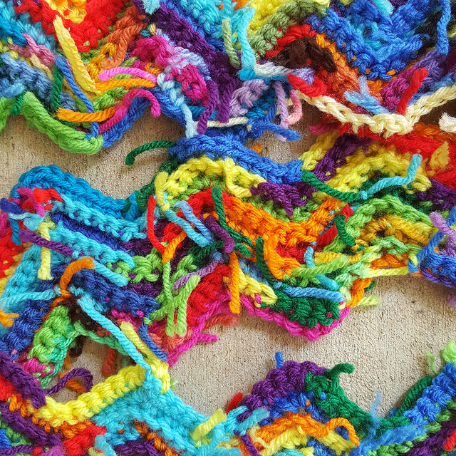 crochetbug, scrap yarn crochet, scrap yarn ripple afghan, scrap yarn crochet ripple blanket, textured crochet throw, textured crochet blanket