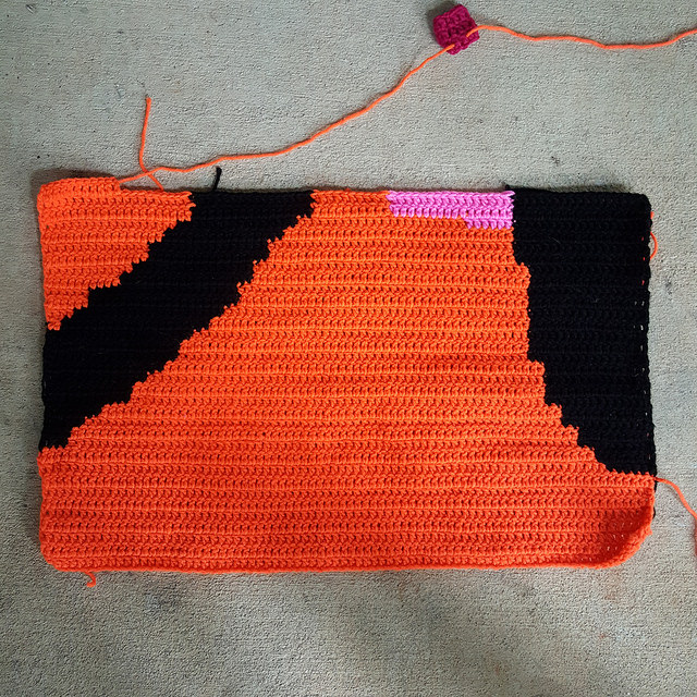 crochetbug, Olek, Love Across the USA, double crochet, crochet panel