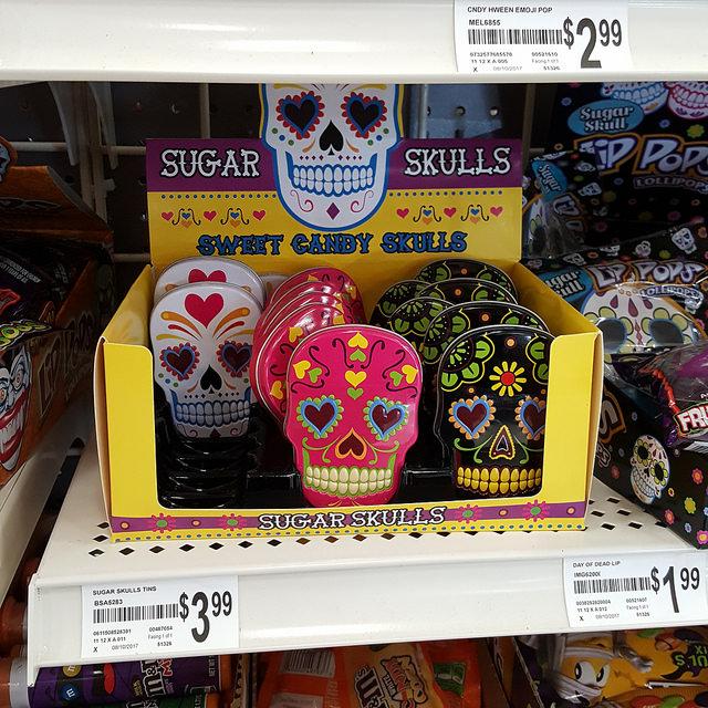 Dia de los Muertos candy tins
