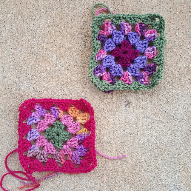 two multicolor granny squares for the roseanne reboot crochet afghan